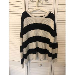 Striped over sized sweater